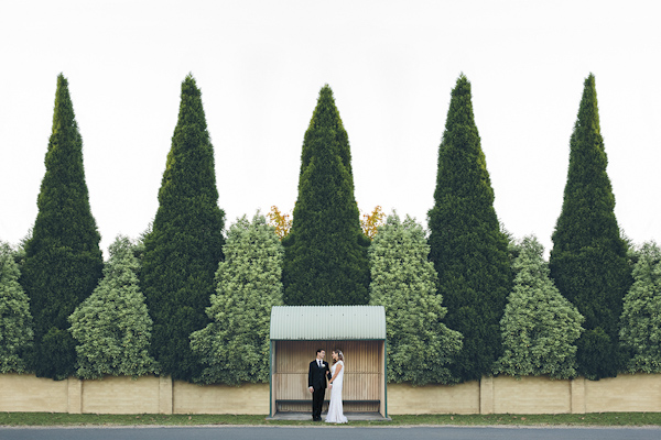 wedding portrait of bride and groom by David Campbell Imagery | via junebugweddings.com