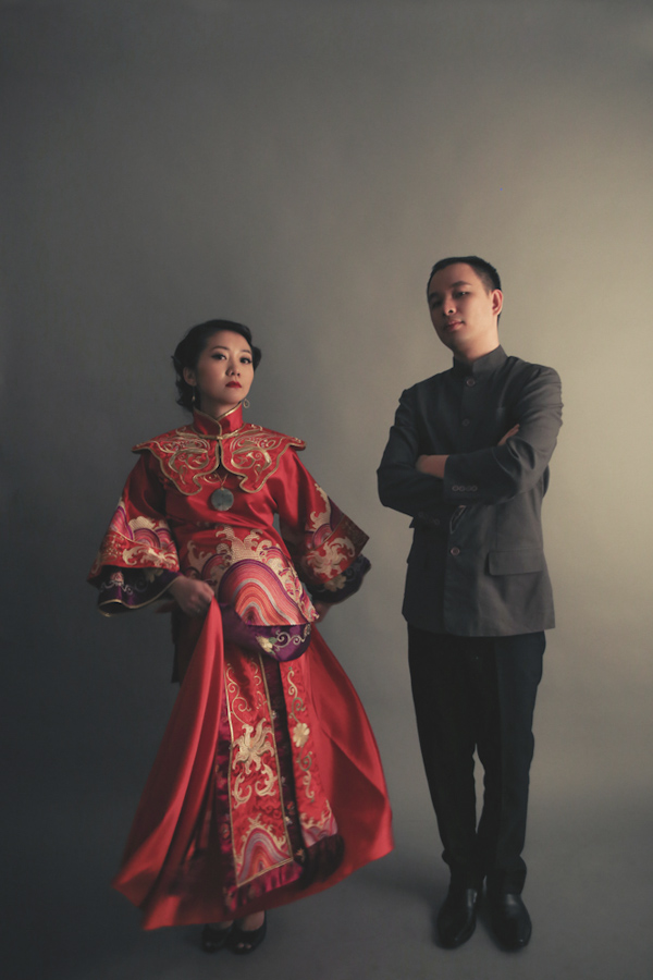 wedding portrait of bride and groom by Jimmy Tan of Studio Numb9r | via junebugweddings.com