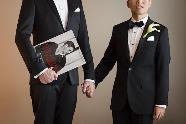 wedding portrait of groom and groom by Rob Greer Photography | via junebugweddings.com
