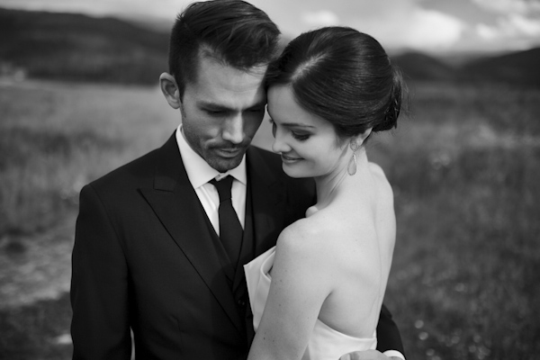 wedding portrait of bride and groom by Heidi Chowen of Chowen Photography | via junebugweddings.com
