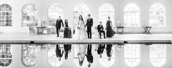 wedding portrait of wedding party by Marcus Bell of Studio Impressions Photography | via junebugweddings.com