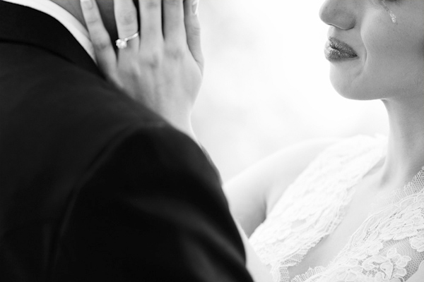 emotional wedding photo by Hiram Trillo Photography | via junebugweddings.com