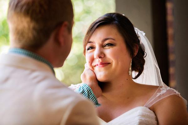 emotional bride photo by Kathryn Krueger - Texas | via junebugweddings.com