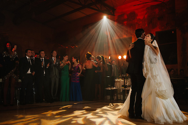 first dance photo at wedding reception by Citlalli Rico Photography - Mexico | via junebugweddings.com