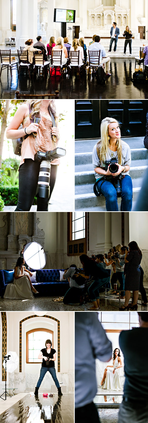 behind the scenes at the Junebug Weddings FASHION FORWARD Wedding Photography Workshop - photos by Chelsea Patricia