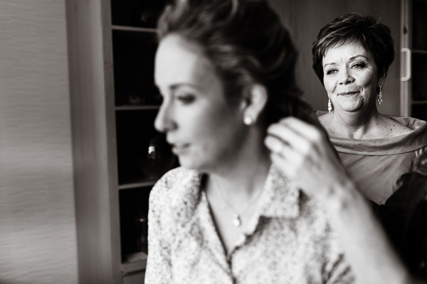 emotional look from mother of bride getting ready, photo by Scott Lewis Images - Philadelphia | via junebugweddings.com