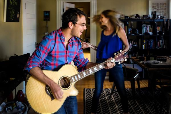 wedding photo of Daniel and Lindsay Stark by Ben Godkin of Caroline+Ben Photography | via junebugweddings.com