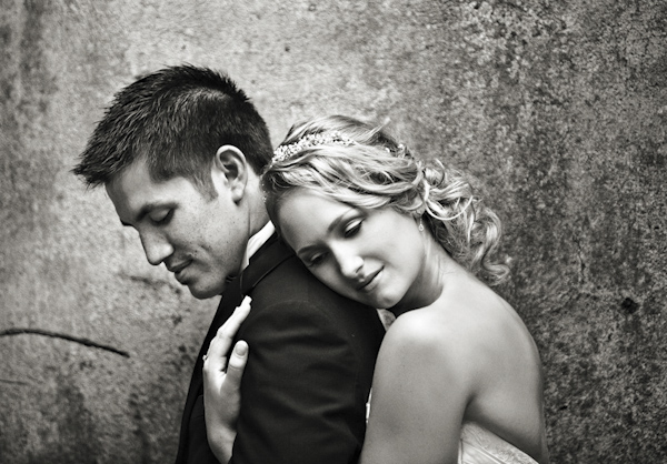romantic wedding photo by Joy Marie | via junebugweddings.com