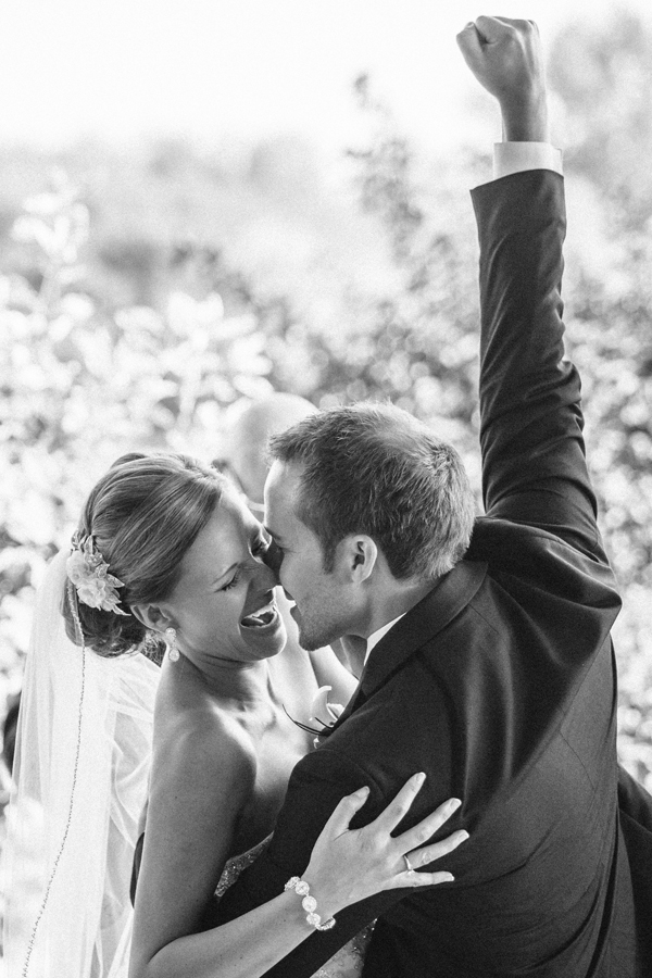 wedding ceremony kissing photo by Brent Foster Photography | via junebugweddings.com