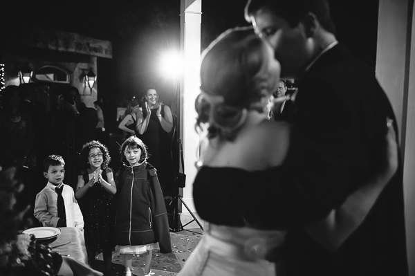 kissing wedding photo by Philip Thomas Photography | via junebugweddings.com