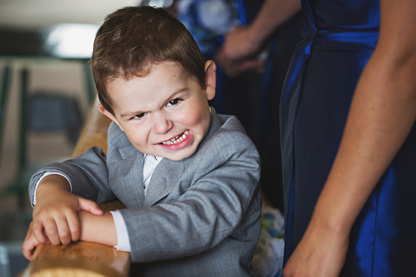 adorable wedding photo of little boy by Fran Chelico, British Columbia wedding photographer | via junebugweddings.com