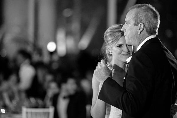 emotional father daughter dance at wedding reception, photo by Elaine Palladino - Miami | via junebugweddings.com