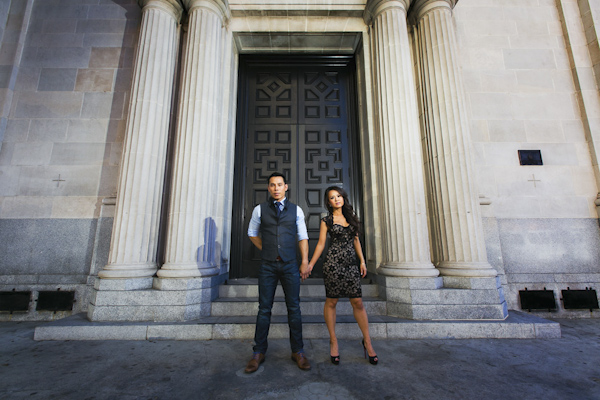 engagement photo shoot by Los Angeles wedding and engagement photographers Callaway Gable | via junebugweddings.com