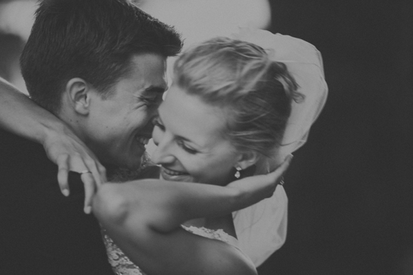 laughing romantic wedding photo by Alessandro Roncaglione | via junebugweddings.com