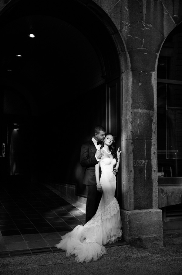 romantic moment black and white photo by Phototerra | via junebugweddings.com