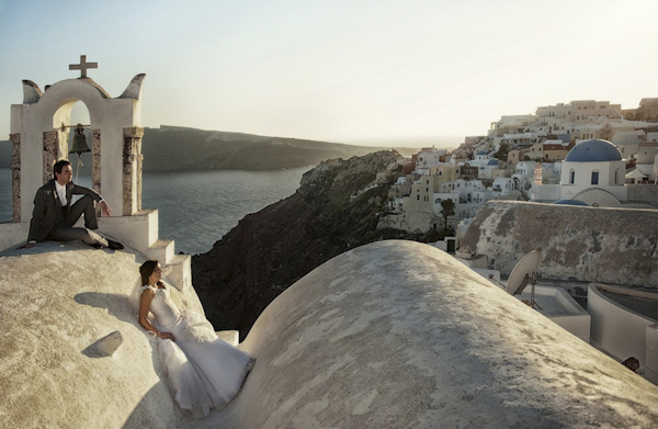 creative and artistic wedding photo by Photopek, Greece wedding photographer | via junebugweddings.com