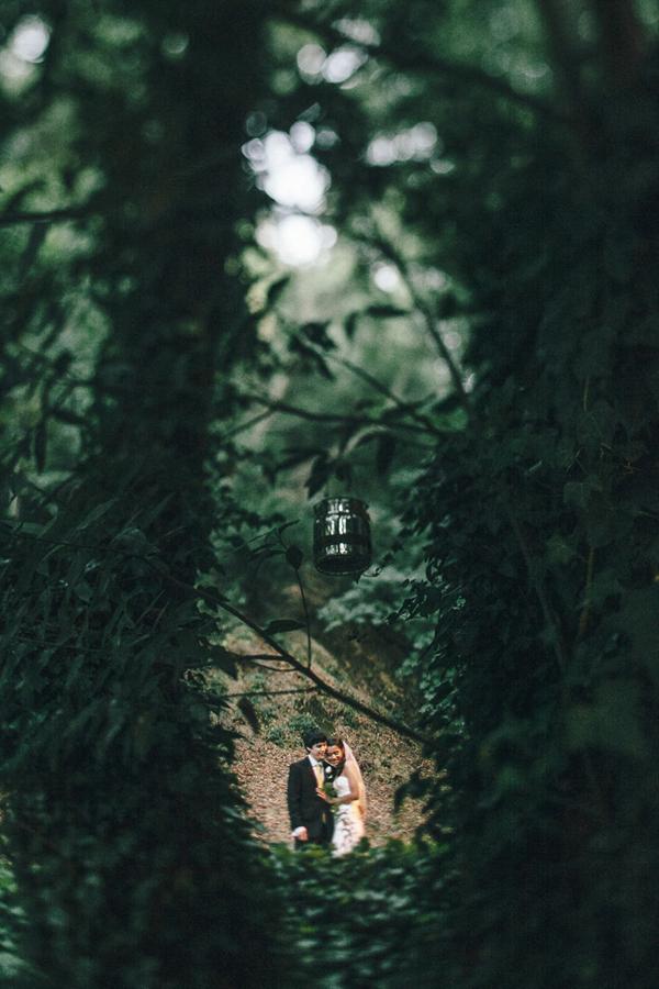 beautiful portrait in forest by Heather Elizabeth Photography - San Francisco, California wedding photographer   via junebugweddings.com
