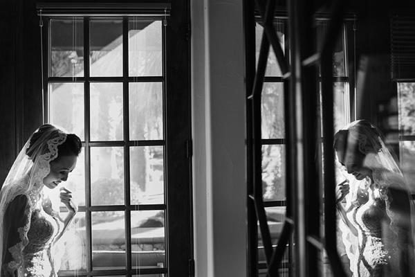 bridal portrait with mirror reflections by Ray Soemarsono of Apertura | via junebugweddings.com
