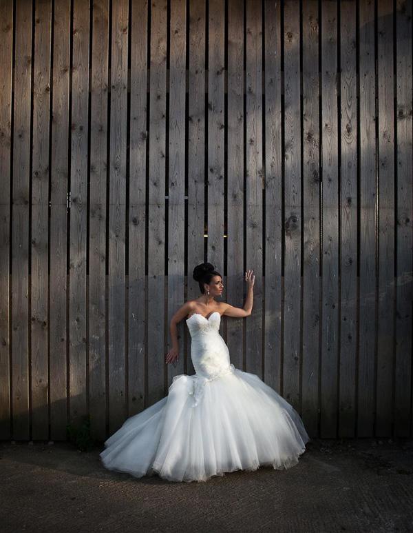 dramatic bridal portrait, wedding photo by Christopher Barroccu Photography - England wedding photographer | via junebugweddings.com
