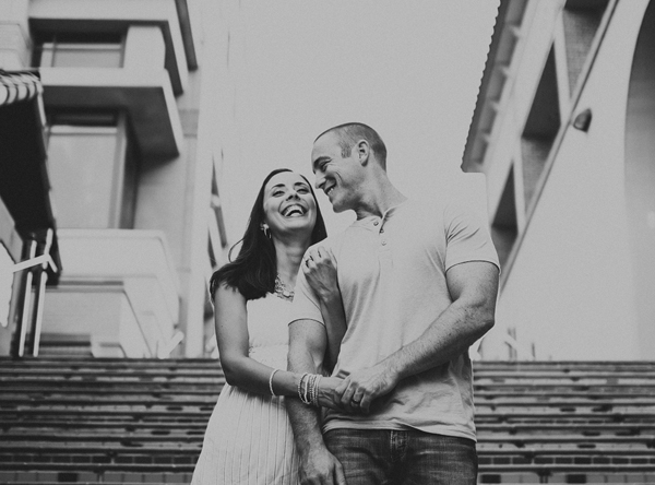 happy portrait engagement photo by Gleason Photography - Nebraska wedding photographer | via junebugweddings.com