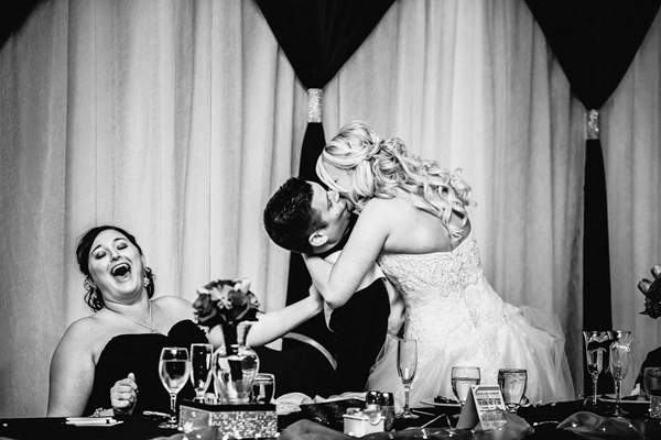 hilarious wedding reception photo by Gleason Photography - Nebraska wedding photographer | via junebugweddings.com