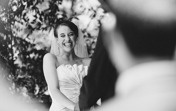 joyful bride wedding photo by Heather Elizabeth Photography - San Francisco, California wedding photographer | via junebugweddings.com