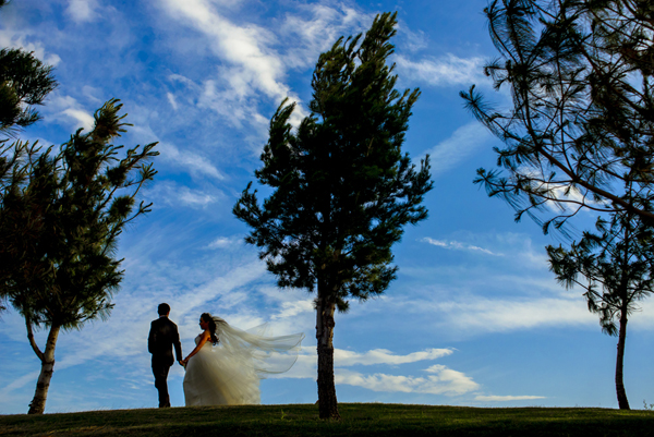 landscape portrait wedding photo by Daniel Diaz Photography - Mexico wedding photographer | via junebugweddings.com