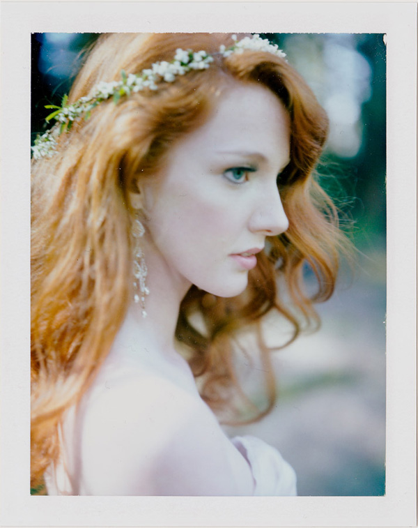 polaroid bridal portrait by Ryan Flynn Photography, Seattle, Washington | via junebugweddings.com