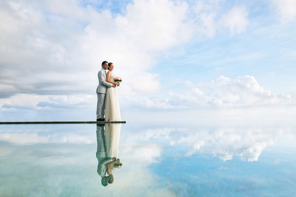beautiful landscape cloud reflection photo by Veli Yanto of Veli Photography | via junebugweddings.com
