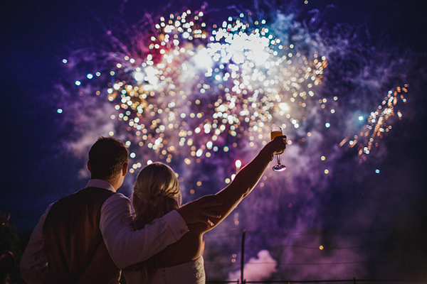 fireworks photo by ARJ Photography   via junebugweddings.com