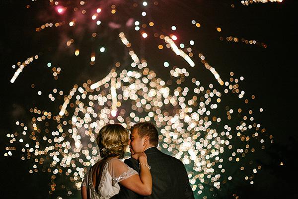 fireworks photo by Sansom Photography   via junebugweddings.com