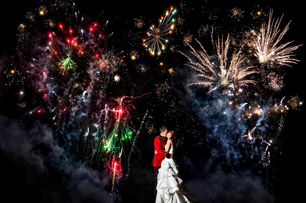 fireworks photo by Two Mann Studios | via junebugweddings.com