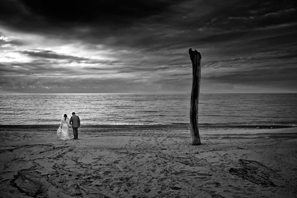 beautiful landscape wedding portrait by Danilo Coluccio Photographer | via junebugweddings.com
