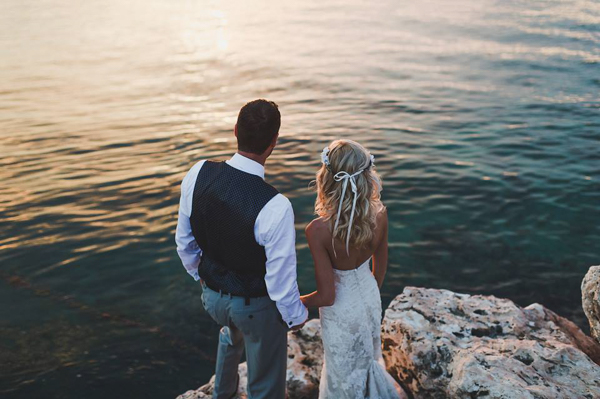 ocean side wedding portraits
