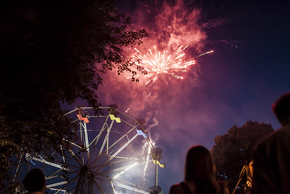 Jamie And Juan Wanted Something Completely Different For Their Wedding So Of Course They Threw A Backyard Party Complete With Ferris Wheel Fireworks