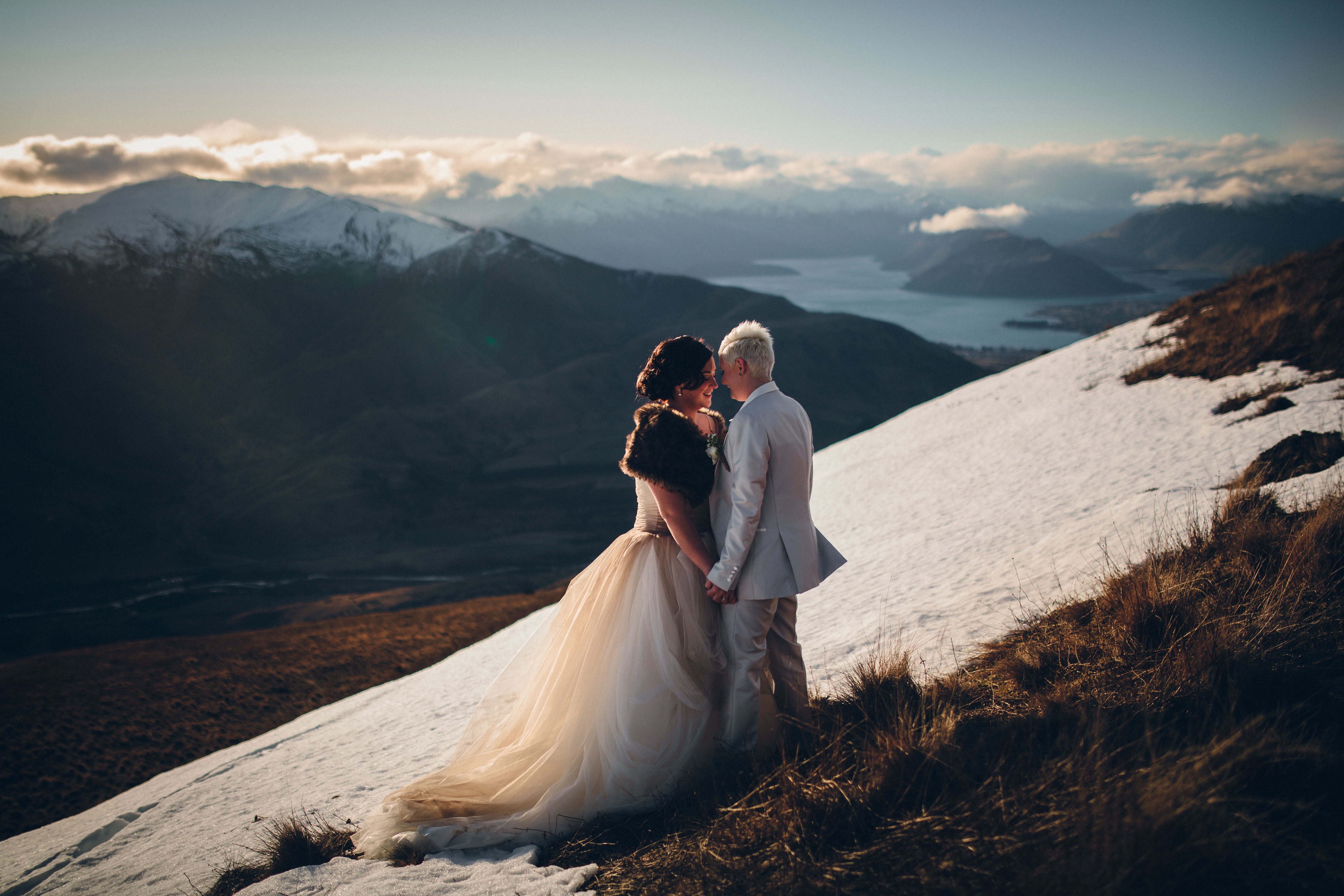 Behind the Mountainside Couple Portrait from Jim Pollard
