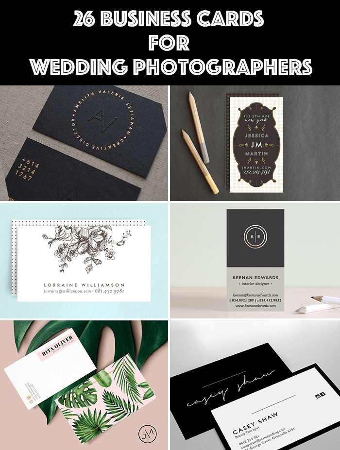 26 Wedding Photographer Business Cards Templates That Youll Love