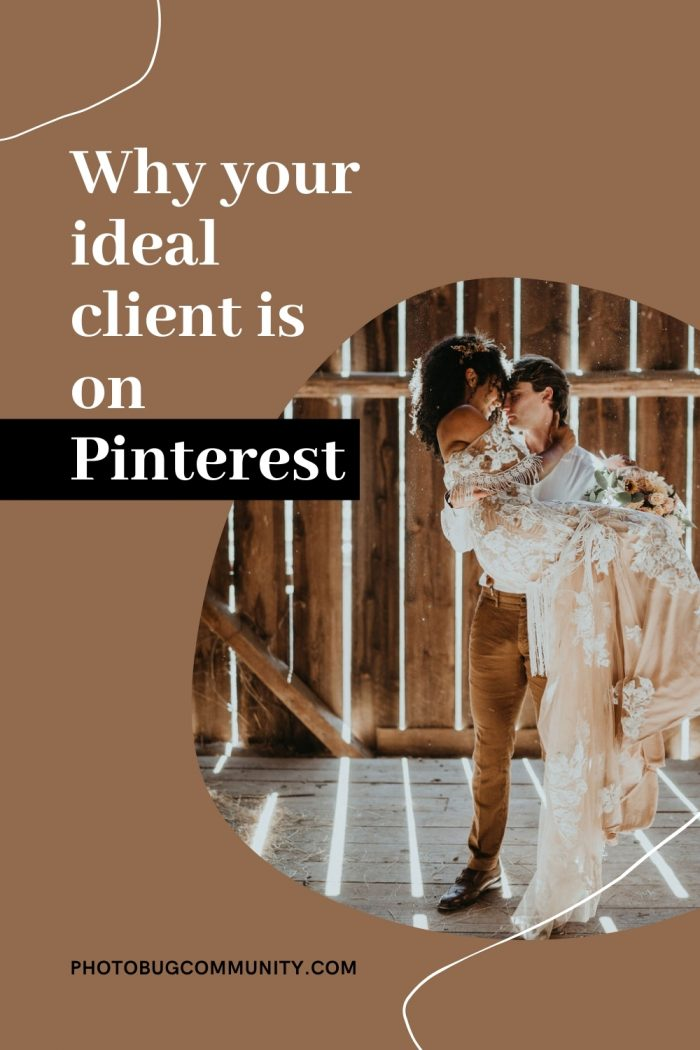 ideal client on pinterest graphic