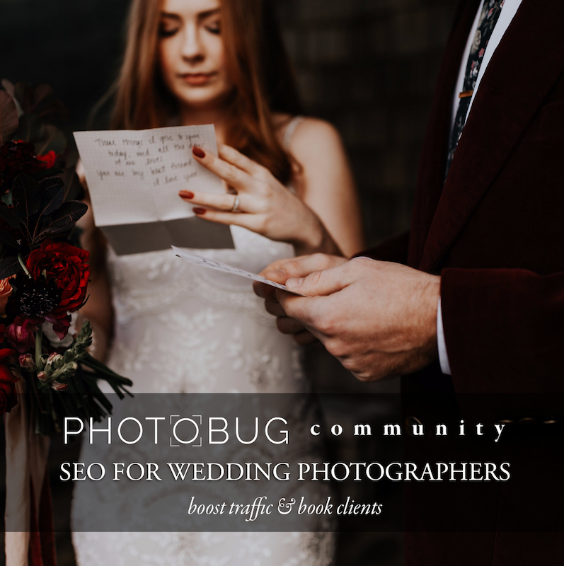 seo for wedding photographers online course