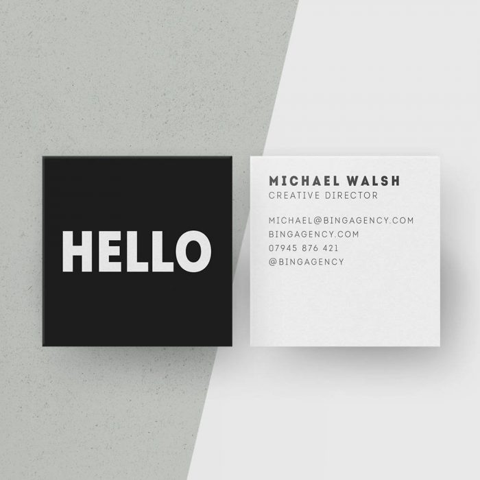 The best etsy business cards for wedding photographers junebug customised square business cards minimalist black and white calling cards hello personalised name card modern office stationery digital reheart Choice Image