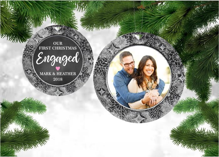 engagement gifts for couple our first christmas engaged ornament customized ornament christmas gifts personalized wood ornament mr and mrs