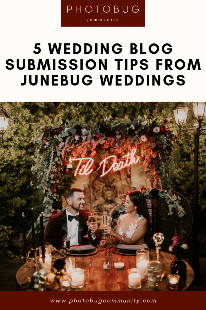 5 Wedding Blog Submission Tips from Junebug Weddings