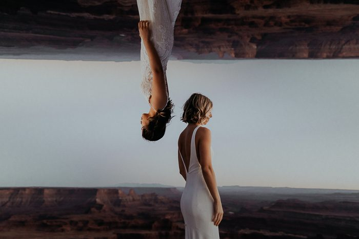 brides vertical and upside-down