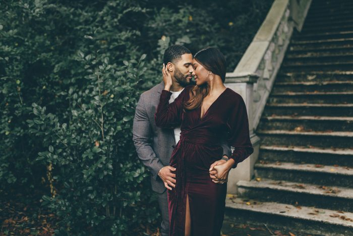 couple embracing Black Wedding Photographers