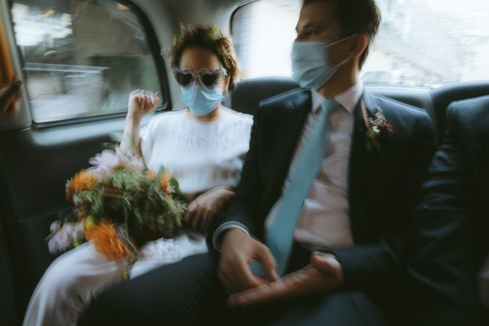 Nigel couple in car moving