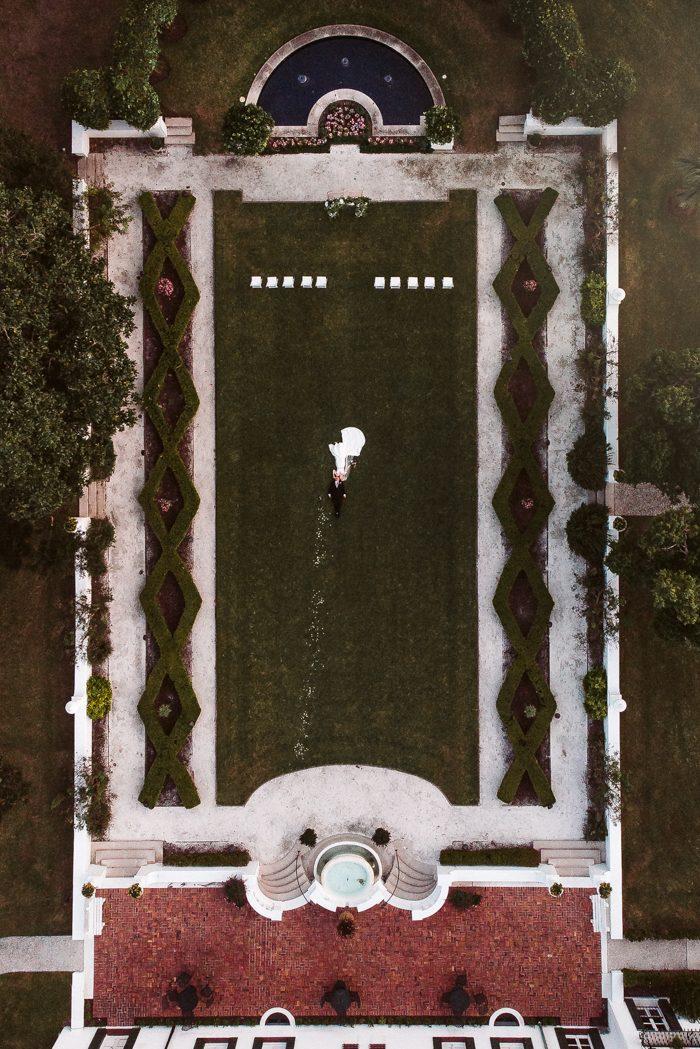 drone photo wedding 2020