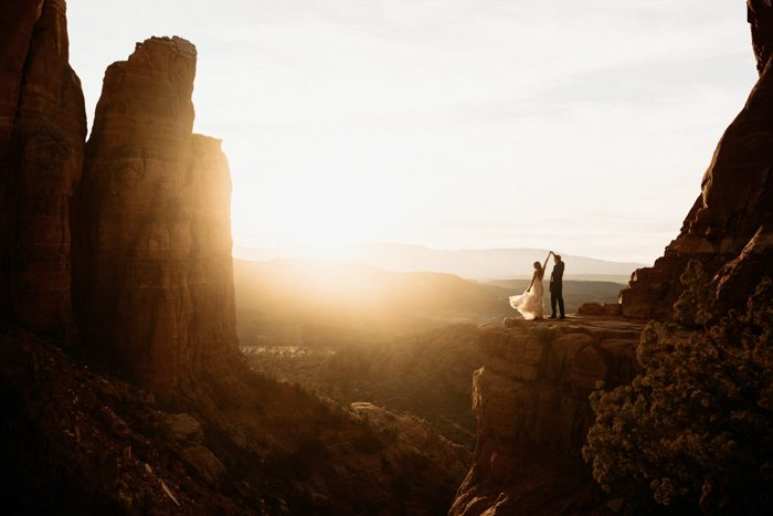 mountain cliffside wedding honorable mention