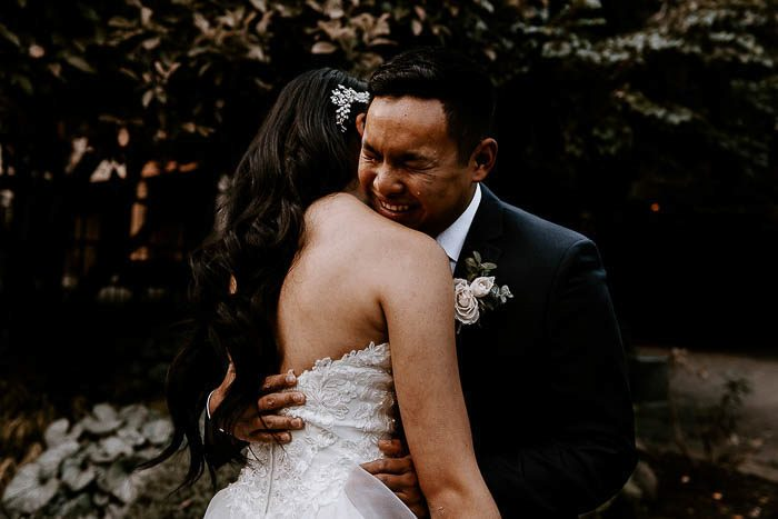 emotional wedding couple 2020
