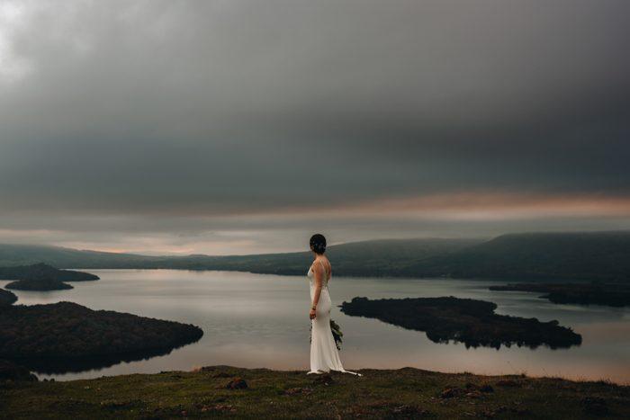 sunset bridal portrait tpom