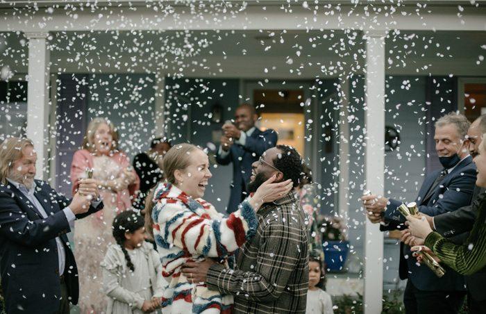 confetti wedding photo challenge
